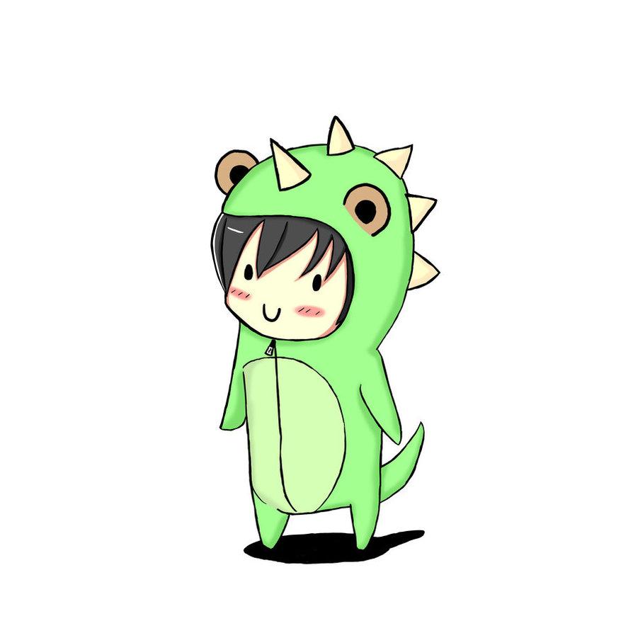 894x894 Chibi Dinosaur By Nerdycoco