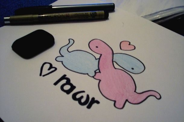 610x405 Rawr Cute Tumblr Drawings Drawing And Coloring For Kids Art