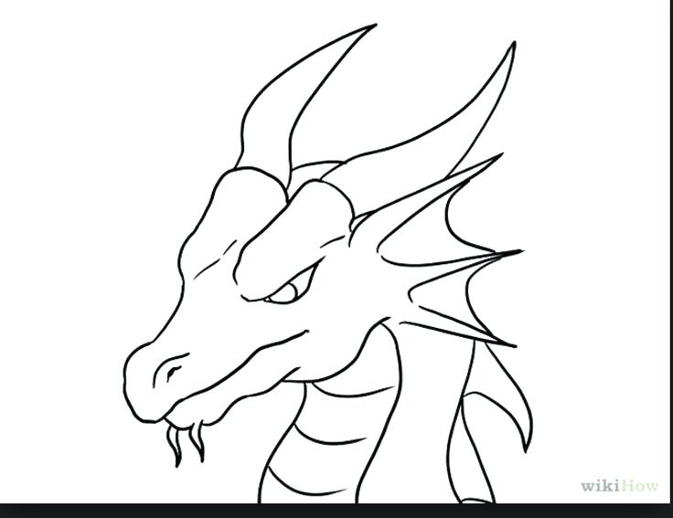 736x567 Easy To Draw Dinosaur Draw A Simple Dragon Best Easy Dragon