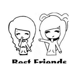 300x300 Cute Girl Best Friend Drawings Easy