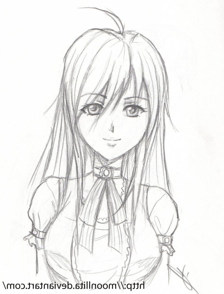 779x1024 Simple Pencil Sketches Of Cutegirls Easy Pencil Drawings Of Cute