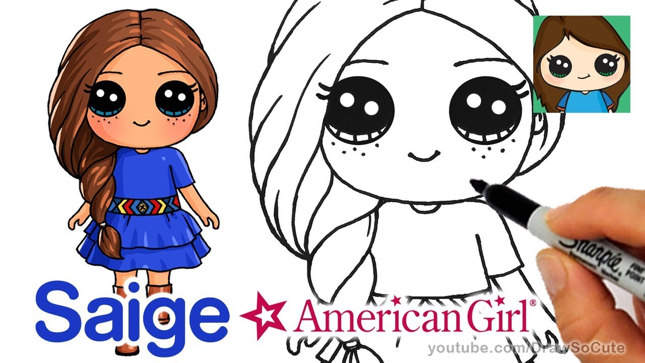 1280x720 How To Draw Saige Easy American Girl Doll