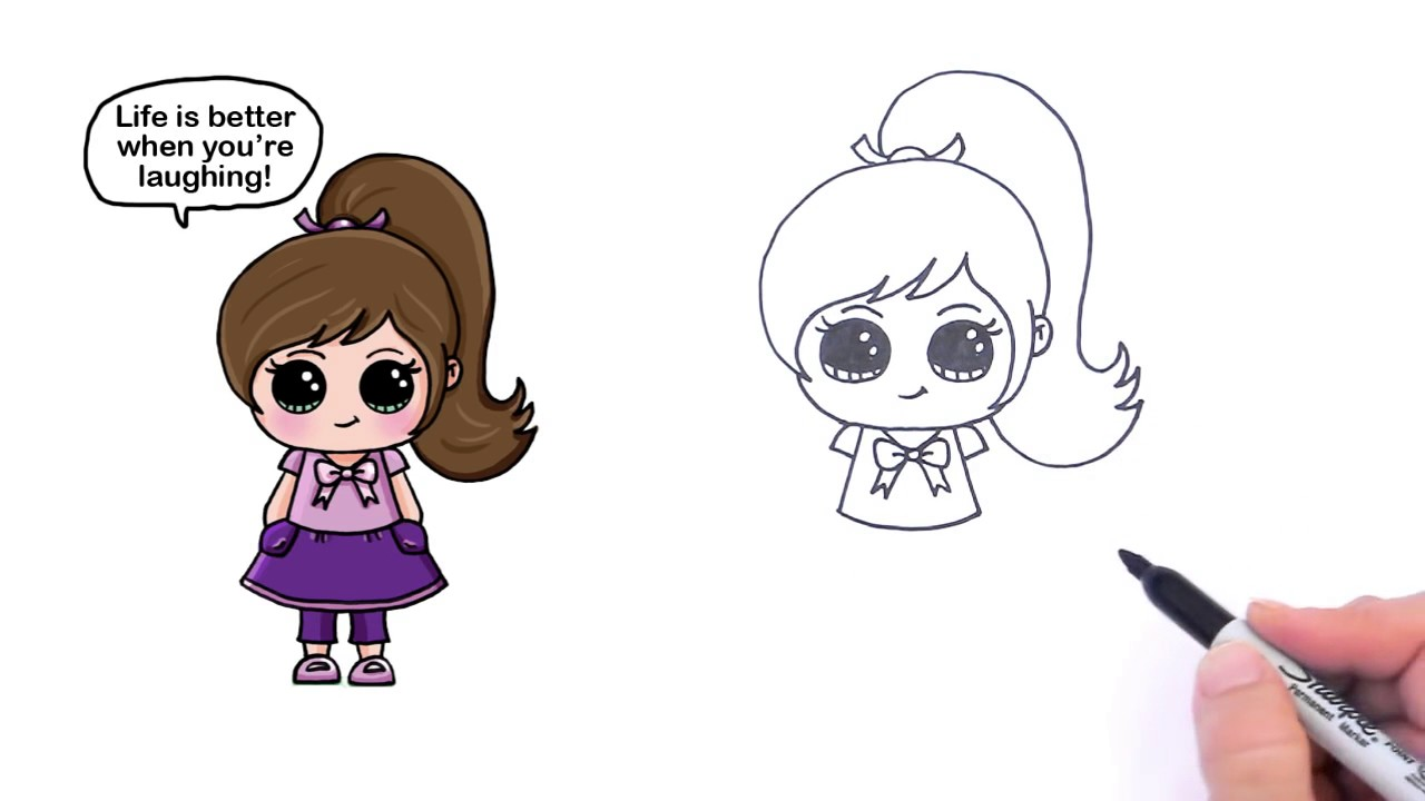 1280x720 How To Draw A Cute Girl