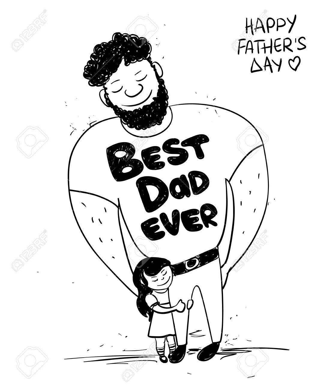 1083x1300 Drawing Of Father And Daughter 28,380 Father Daughter Stock