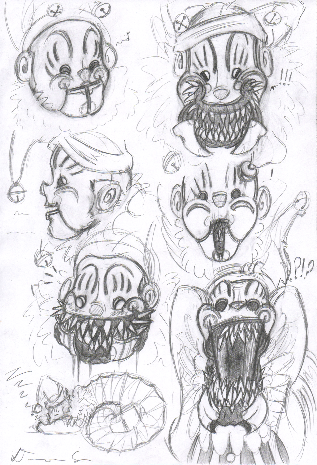 1024x1501 Krampus Clown Sketch Thingy By Satori Of The Forest