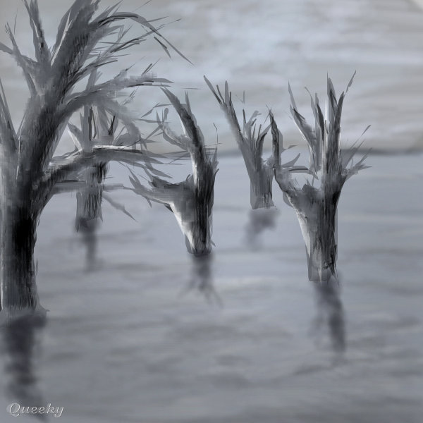 600x600 Dead Forest A Fantasy Speedpaint Drawing By Helyn1469