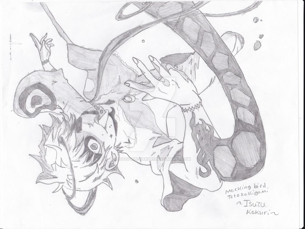1024x771 Deadman Wonderland Mockingbird Sakigami Toto By Isuzu Rin Kakuri