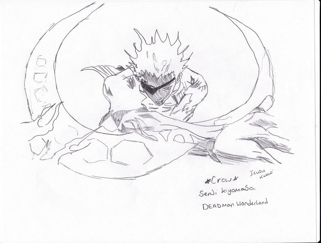 1024x776 Deadman Wonderland Crow Senji Kiyomasa By Isuzu Rin Kakuri