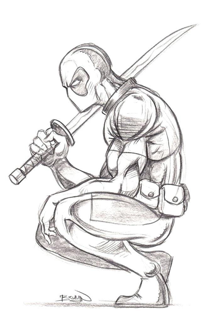 Deadpool Drawing In Pencil Full Body at GetDrawings | Free ...