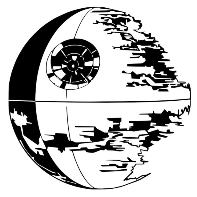 Death Star Line Drawing