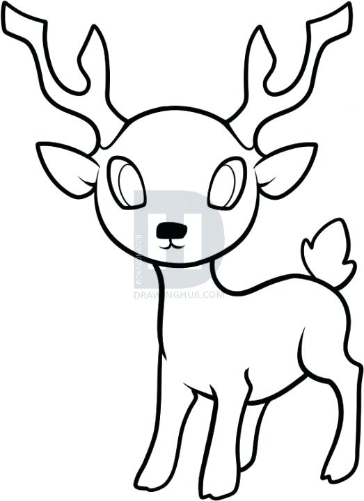 523x720 How To Draw A Deer Draw A Deer 1 By Easy To Draw Cartoon Deer Head