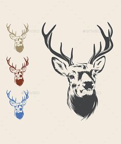 236x280 Tribal Deer Head Tattoo Deer Head Tattoo, Head Tattoos And Tattoo