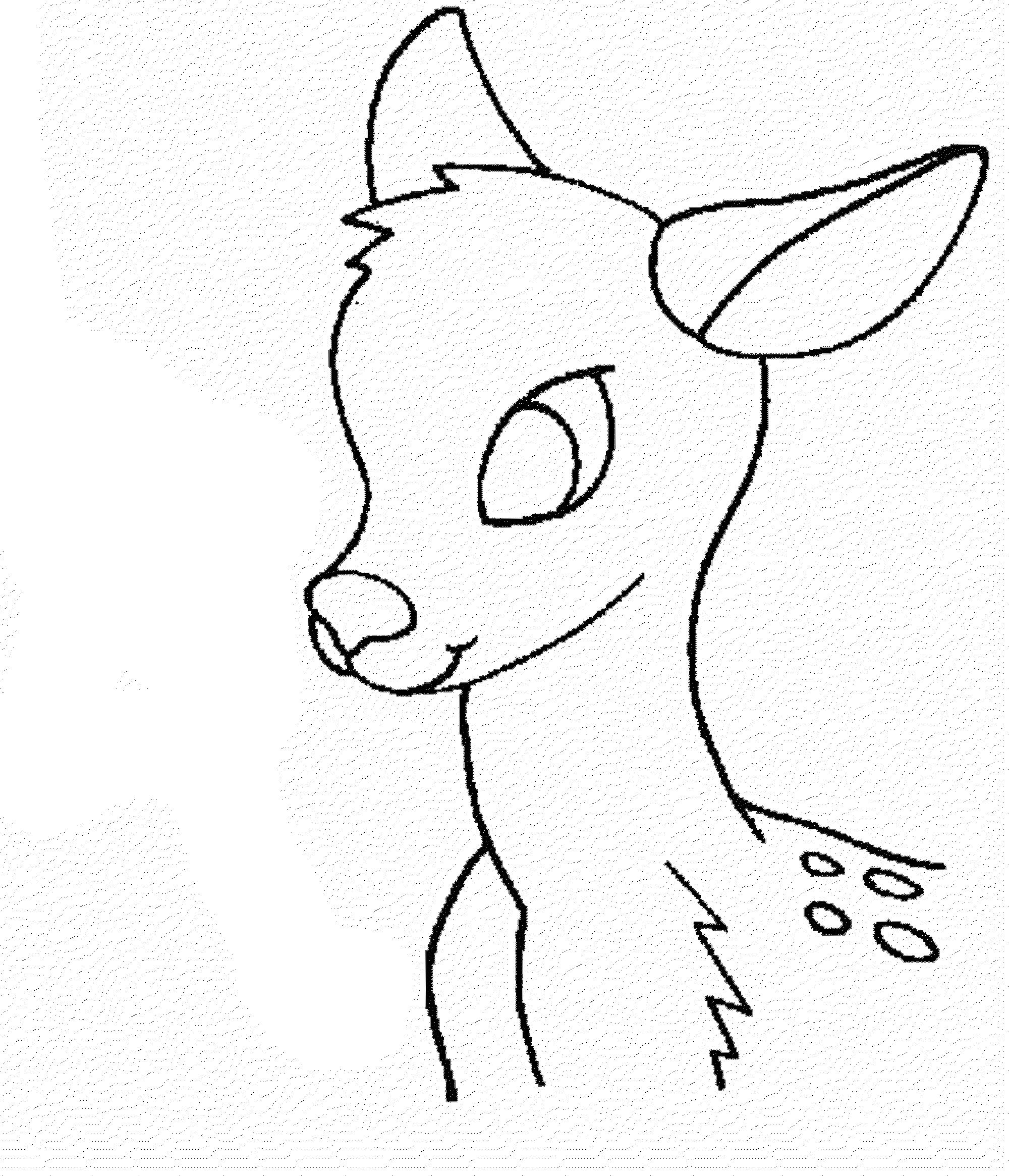 2000x2330 How To Draw Deer Head How To Draw Deer Head Stepstep Very Easy