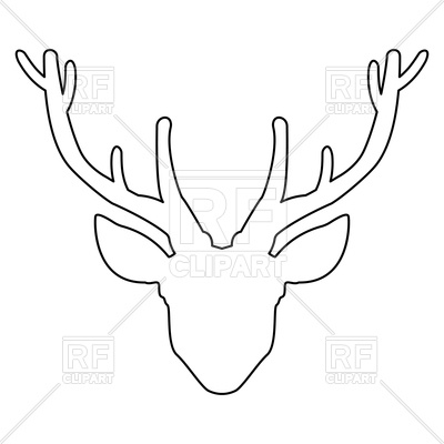 400x400 Pictures Outline Of A Deer Head,