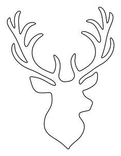236x305 Stag Head Pattern. Use The Printable Outline For Crafts, Creating