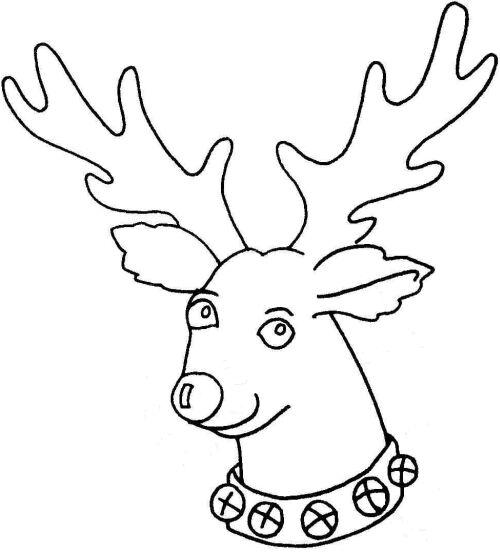 500x552 Deer Head Template