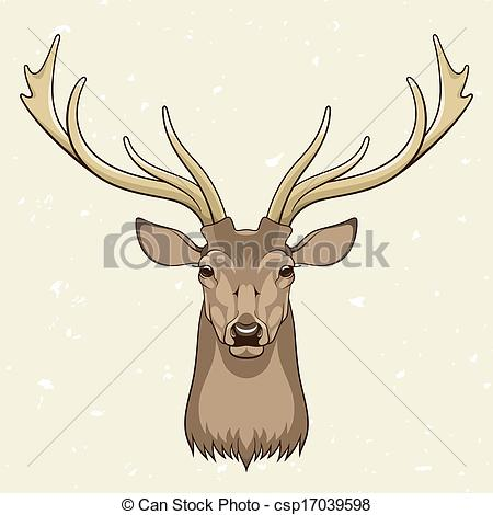 450x470 Collection Of Deer Head Drawing Color High Quality, Free