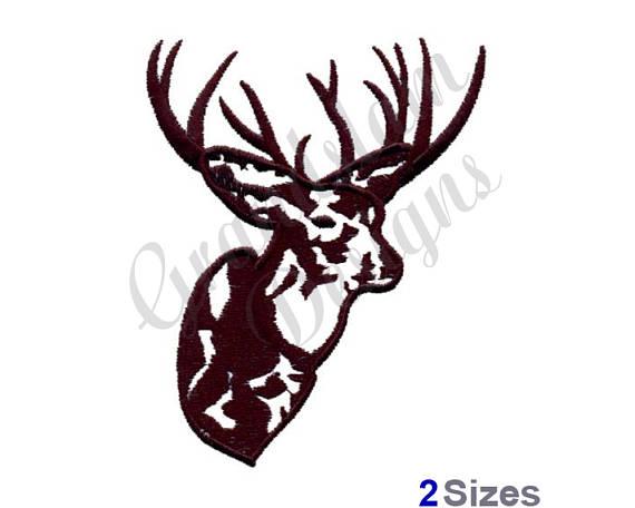 570x456 Deer Head Outline