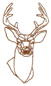 209x350 Deer Head Outline Embroidery Designs, Machine Embroidery Designs