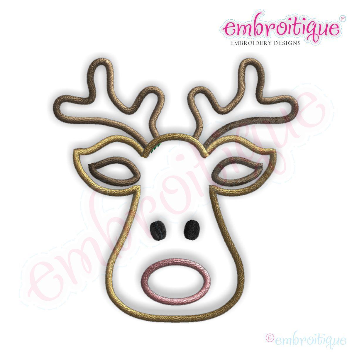 1200x1200 Reindeer Head Outline