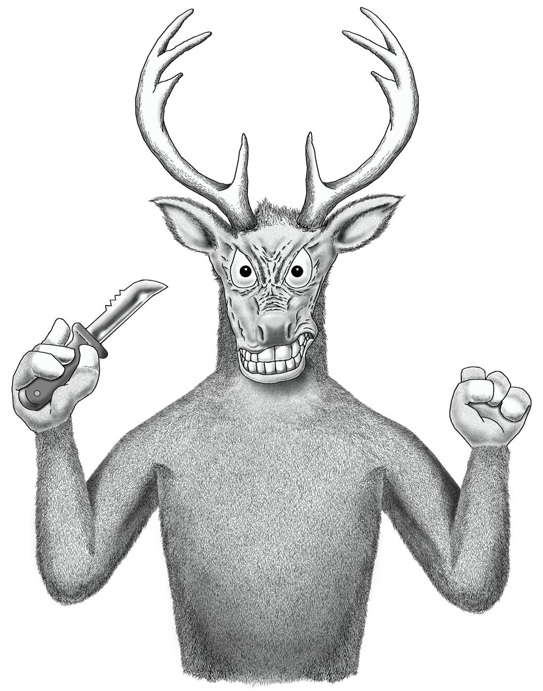 1099x1400 Deer Fights Back