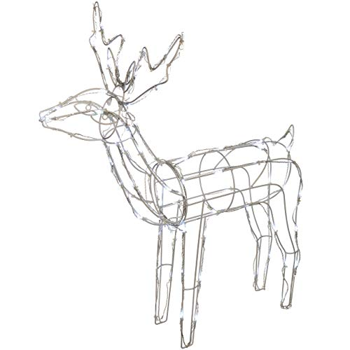 500x500 Werchristmas Pre Lit Large 3d Animated Reindeer Family Christmas