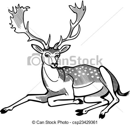 450x432 Collection Of Deer Laying Down Clipart High Quality, Free