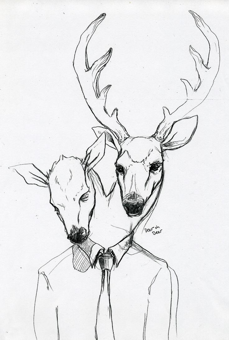 736x1094 79 Best Deer Images On Deer, Drawings And Art
