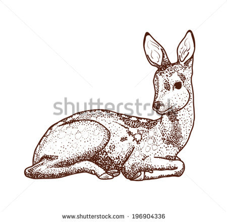 450x440 Collection Of Deer Laying Down Drawing High Quality, Free