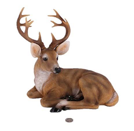 463x452 Haoming Deer Lying Outdoor Garden Statues Small Buck