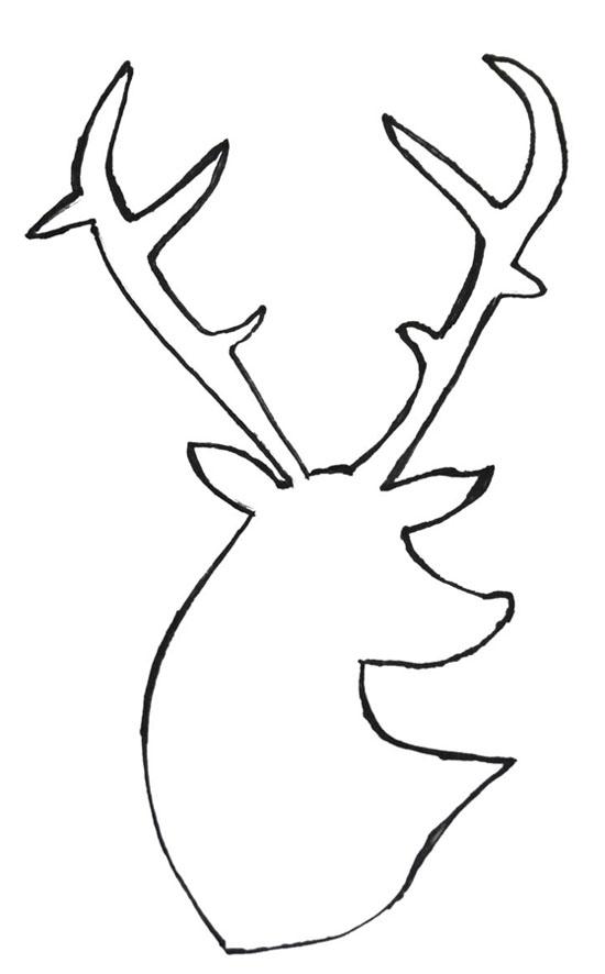 550x886 Gallery Easy Deer Head Drawings,