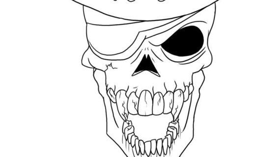 570x320 Skull Drawing Step By Step Sad Flower That Are Easy To Draw