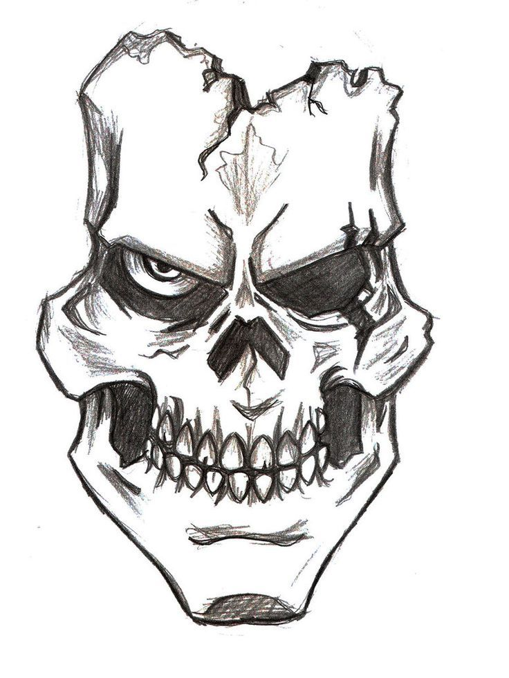 736x981 48 Wonderful Pictures Of Easy Skull Drawing Drawing Ideas