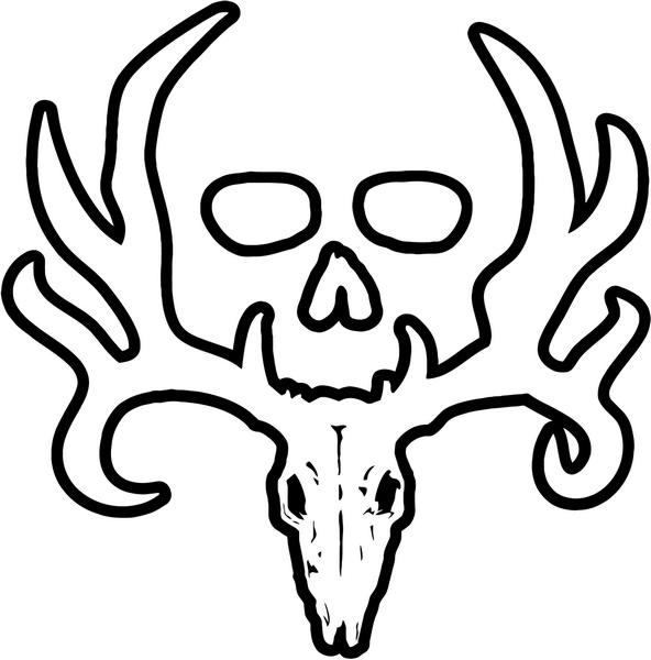 592x600 Bone Collector Deer Buck Antlers Hunting Vinyl Decal Sticker Style 3