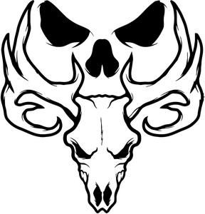 288x300 Bone Collector Deer Skull Logo Deer Heads Skull
