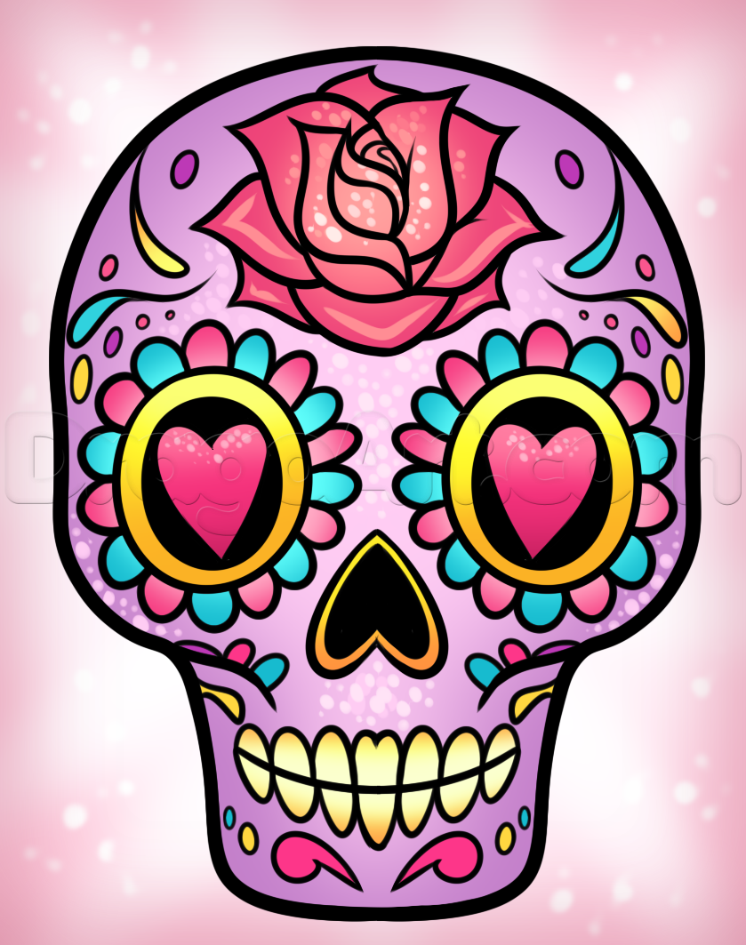 839x1063 How To Draw A Sugar Skull Easy Sugar Skulls Sugar