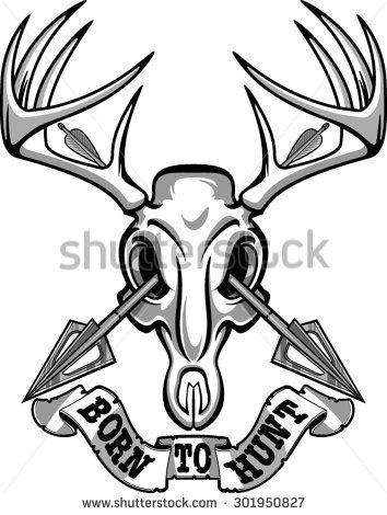 354x470 Deer Skull Drawing Easy 38419 Loadtve