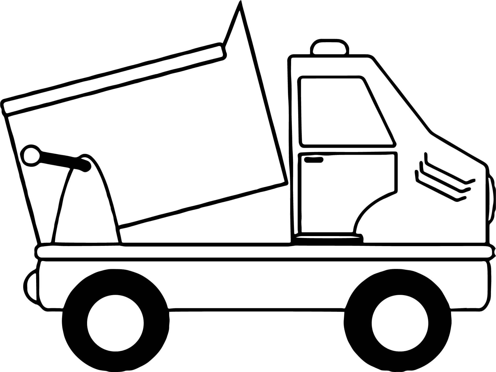 2084x1563 Truck Drawing Dustbin Van Sketch Garbage Truck Dustbin Lorry Louie