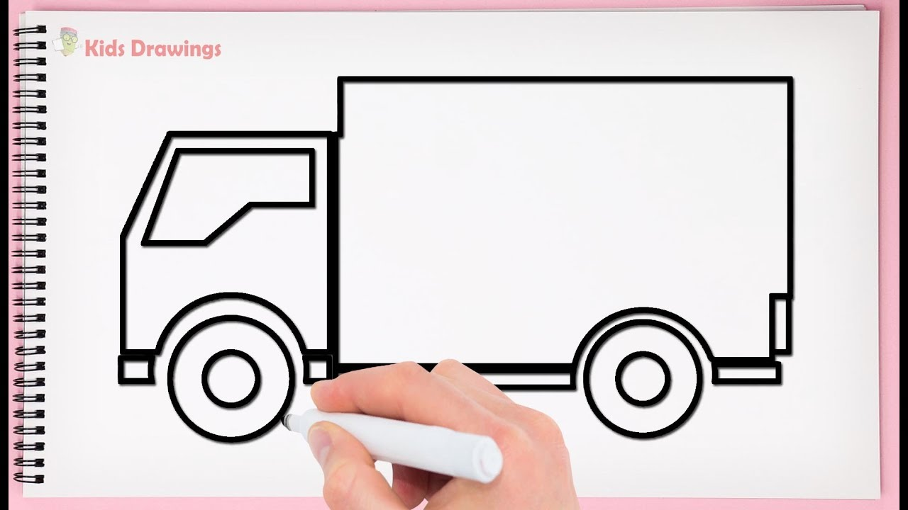 1280x720 How To Draw Delivery Truck Easy Drawing Delivery Truck Very Easy