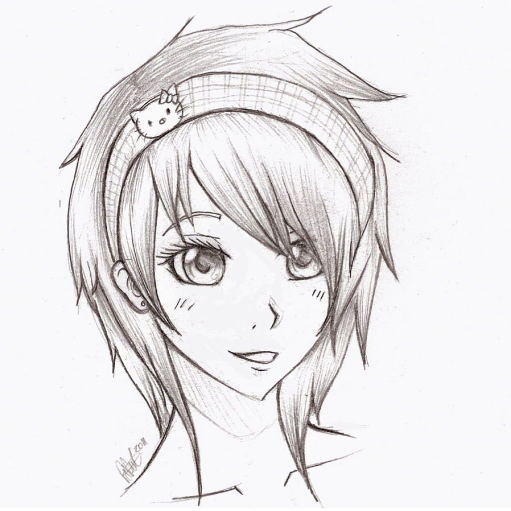 Depressed Anime Girl Drawing At Getdrawingscom Free For