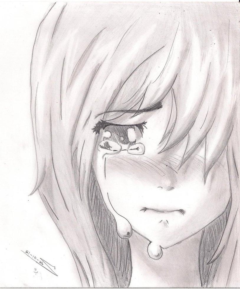 814x981 Cartoon Girl Crying Drawing Crying Anime Drawing Crying Cartoon