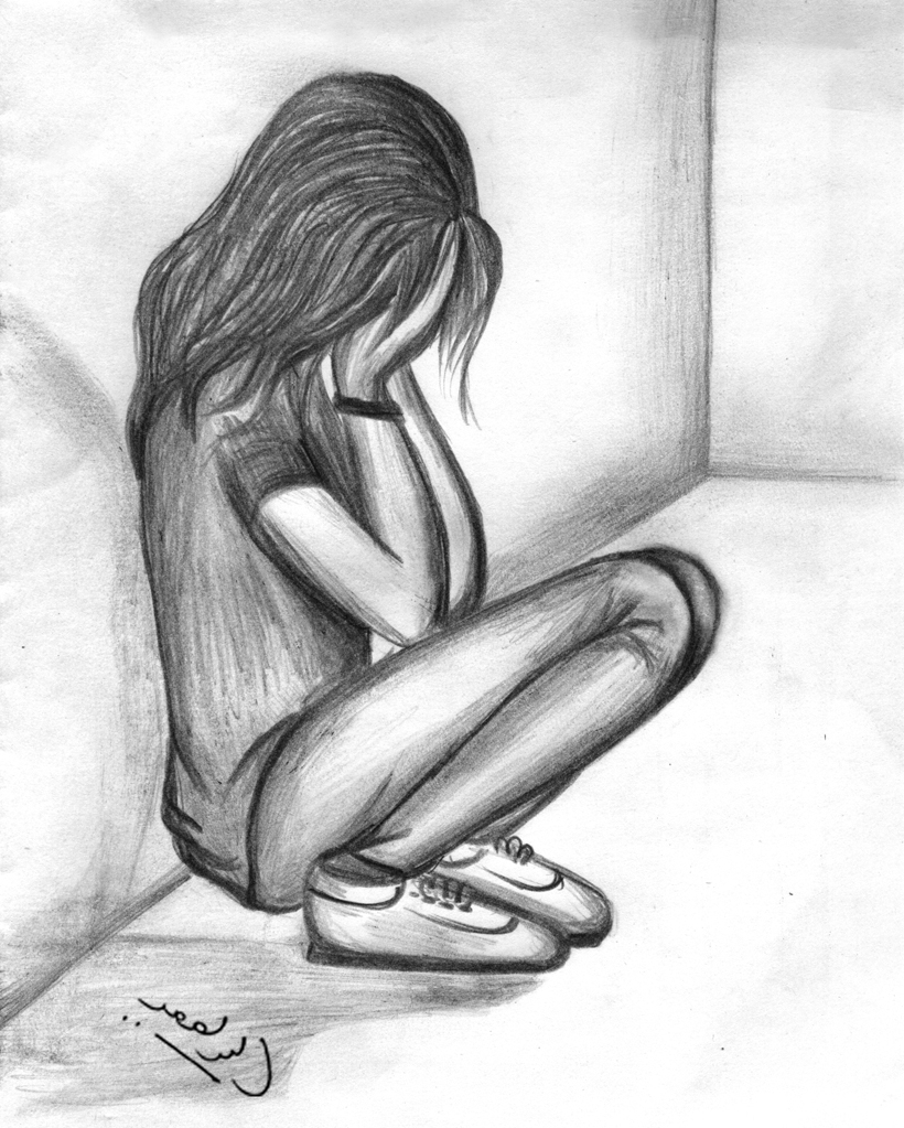 820x1023 Drawing Of A Girl Crying A Girl Crying Drawing Sad Crying Girls