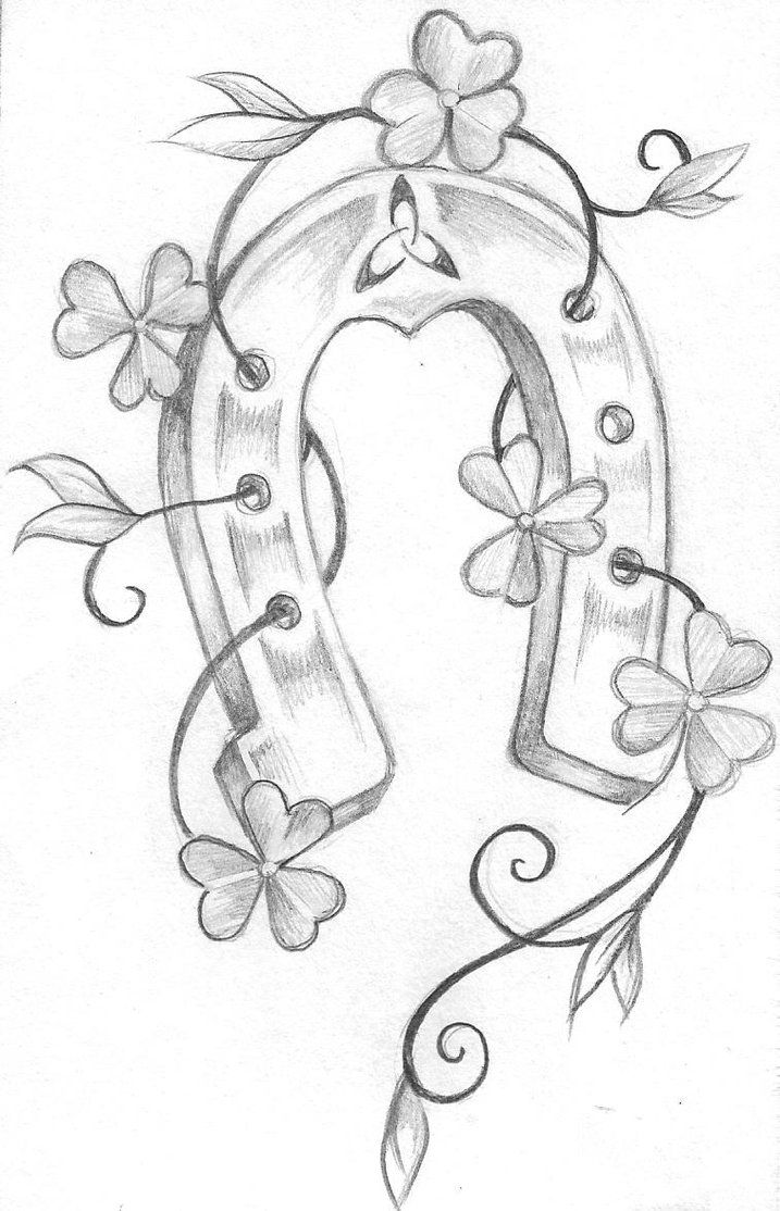 717x1114 Top Horseshoe Drawing Derby Images For Tattoos Horse