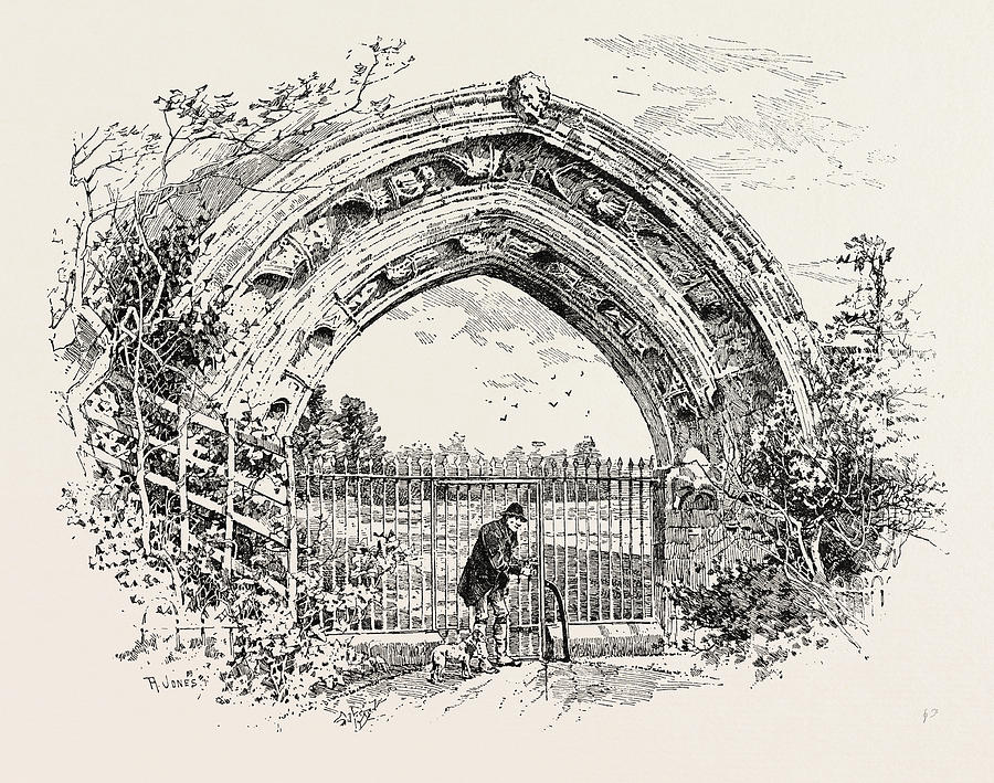 900x709 Derby, Ruined Arch Leading To Vestibule Of The Chapter House