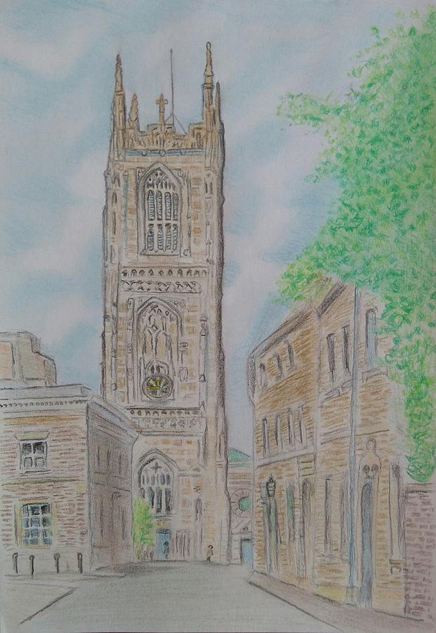 621x900 Derby Cathedral Drawing By Paul Blackmore