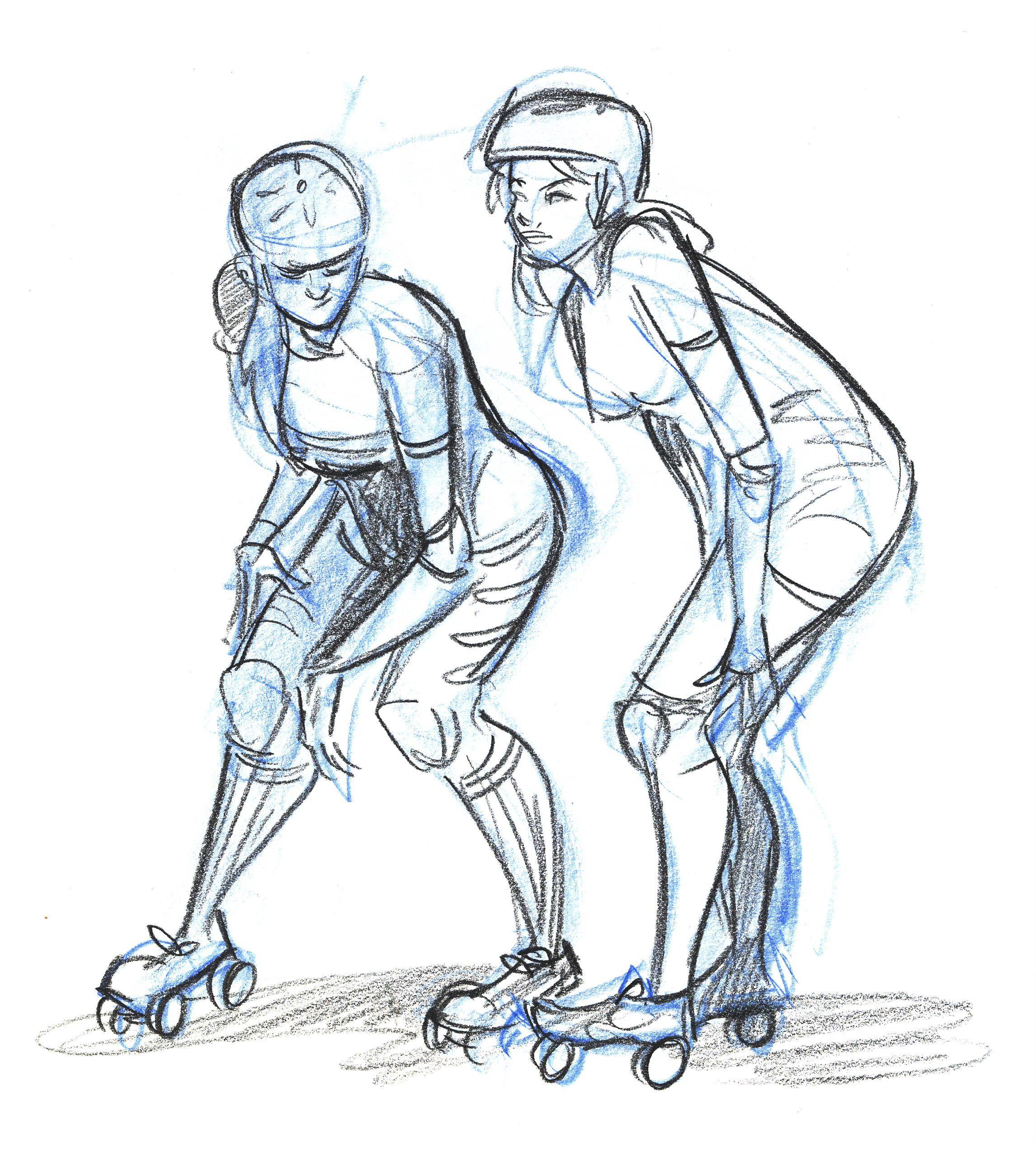 2292x2543 Dr. Sketchy's Roller Derby Part 2 Roller Derby