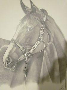 225x300 Kentucky Derby Orginal Art Drawing Of Blind Luck Awsome Find Ebay
