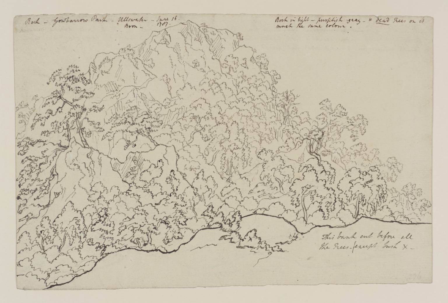 1536x1039 Lower End Of Winandermere. Verso Drawing', Attributed To Joseph