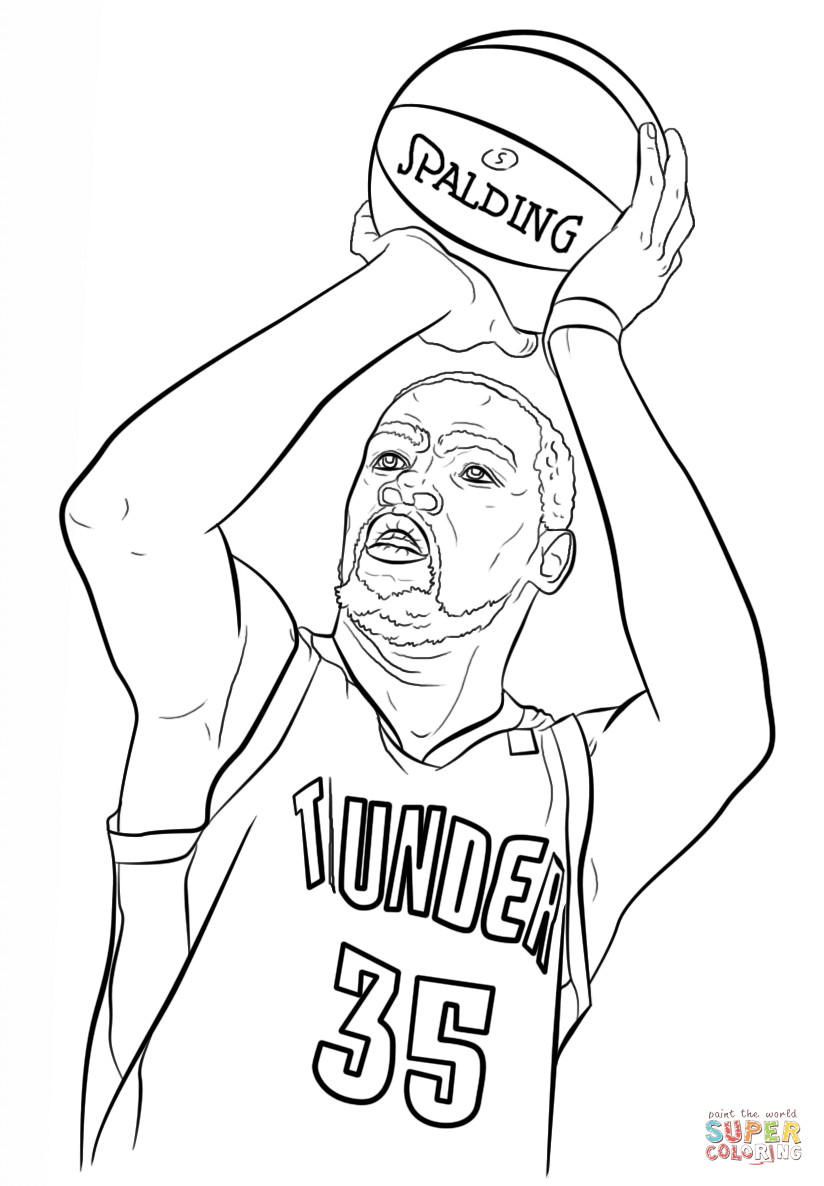 824x1186 Kevin Durant Coloring Page Derrick Rose Pages