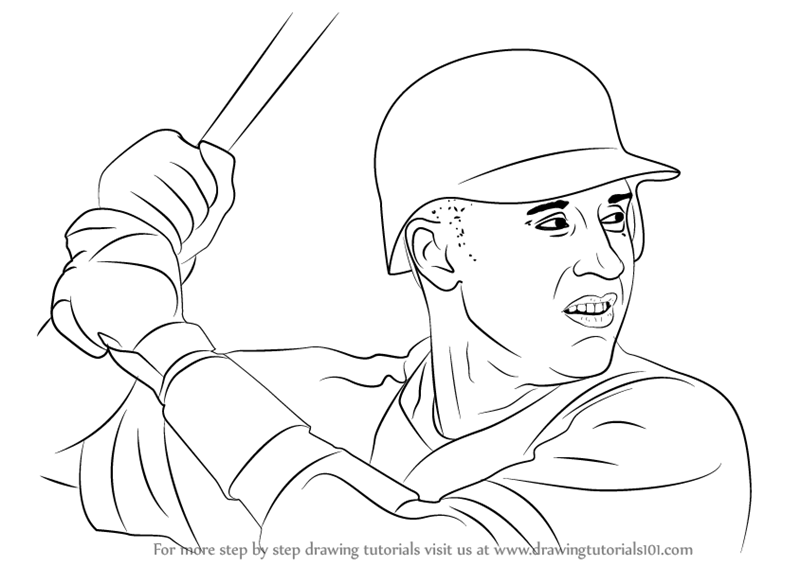 800x566 Learn How To Draw Derek Jeter (Baseball Players) Step By Step